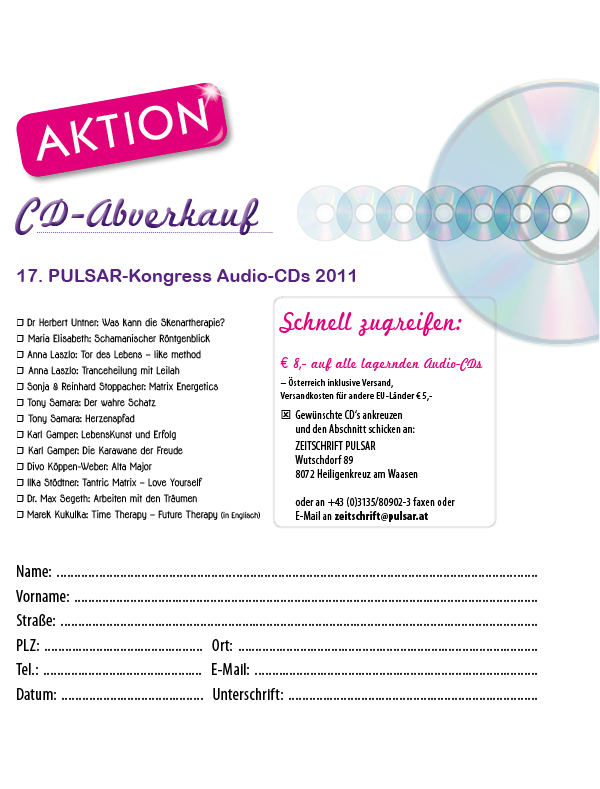 Audio-CDs Pulsar-Kongress 2011
